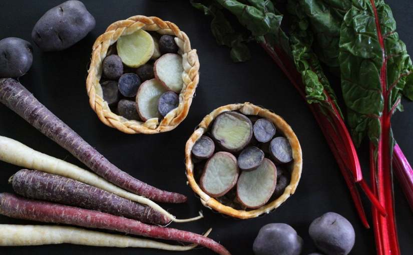 purple produce takeover + potato tart recipe